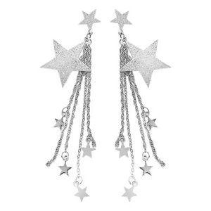 Jewelry - Celestial Star Dangle Tiered Earrings Dainty